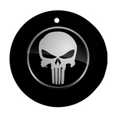 The Punisher Wallpaper  Round Ornament