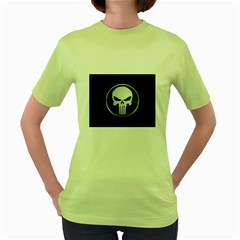 The Punisher Wallpaper  Womens  T-shirt (Green)