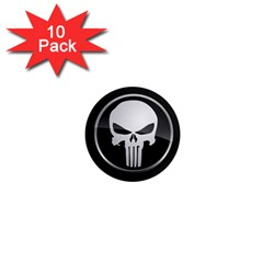 The Punisher Wallpaper  1  Mini Button Magnet (10 pack)