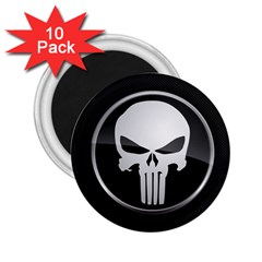 The Punisher Wallpaper  2.25  Button Magnet (10 pack)
