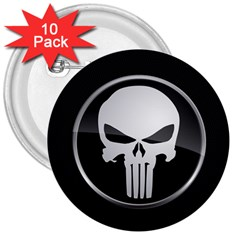 The Punisher Wallpaper  3  Button (10 Pack)