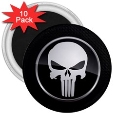The Punisher Wallpaper  3  Button Magnet (10 pack)