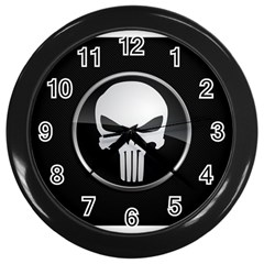 The Punisher Wallpaper  Wall Clock (Black)