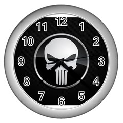 The Punisher Wallpaper  Wall Clock (Silver)