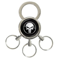 The Punisher Wallpaper  3 Ring Key Chain