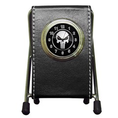 The Punisher Wallpaper  Stationery Holder Clock
