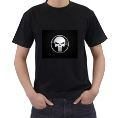The Punisher Wallpaper  Mens' Two Sided T-shirt (Black)