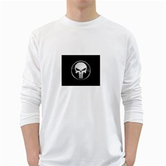 The Punisher Wallpaper  Mens' Long Sleeve T-shirt (White)
