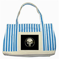 The Punisher Wallpaper  Blue Striped Tote Bag