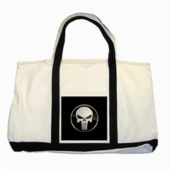 The Punisher Wallpaper  Two Toned Tote Bag