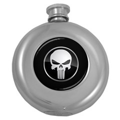 The Punisher Wallpaper  Hip Flask (round)