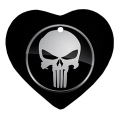 The Punisher Wallpaper  Heart Ornament (Two Sides)