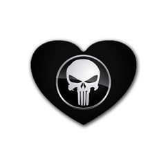 The Punisher Wallpaper  Drink Coasters 4 Pack (Heart)
