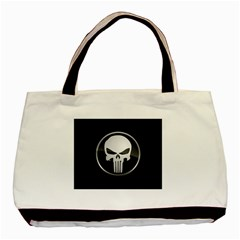 The Punisher Wallpaper  Twin Sided Black Tote Bag
