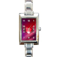 9108 Rectangular Italian Charm Watch