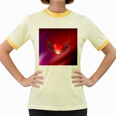 9108 Womens  Ringer T-shirt (Colored)