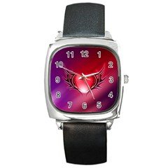 9108 Square Leather Watch