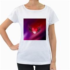 9108 Womens' Maternity T-shirt (White)