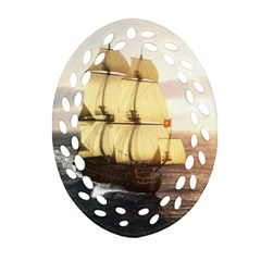 French Warship Ornament (oval Filigree)
