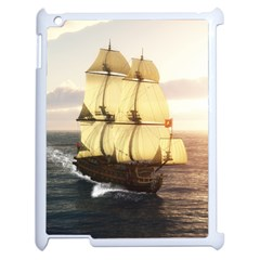 French Warship Apple iPad 2 Case (White)