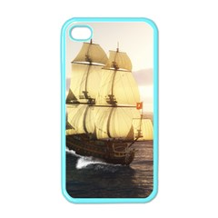 French Warship Apple Iphone 4 Case (color)