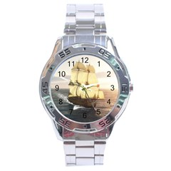 French Warship Stainless Steel Watch (men s)