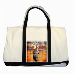 Little Cowboy Two Toned Tote Bag