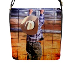 LITTLE COWBOY Flap Closure Messenger Bag (Large)