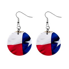 TEXAS Mini Button Earrings