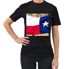 Texas Womens' Two Sided T Shirt (black)