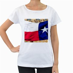 Texas Womens' Maternity T Shirt (white)