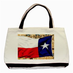 TEXAS Twin-sided Black Tote Bag