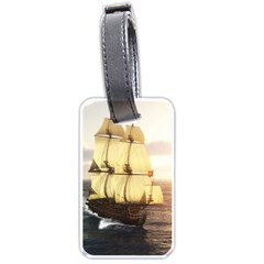 French Warship Luggage Tag (One Side)