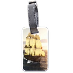 French Warship Luggage Tag (two Sides)