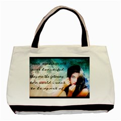 MY EYE ONLY Twin-sided Black Tote Bag