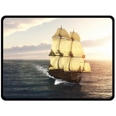 French Warship Fleece Blanket (Extra Large)