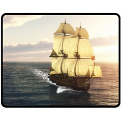 French Warship Fleece Blanket (medium)