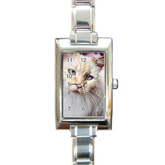 BLUE EYES Rectangular Italian Charm Watch