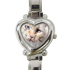 Blue Eyes Heart Italian Charm Watch
