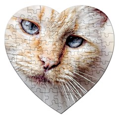 Blue Eyes Jigsaw Puzzle (heart)
