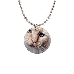 BLUE EYES Button Necklace
