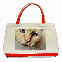 Blue Eyes Classic Tote Bag (red)