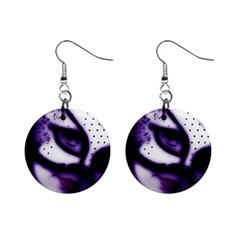 Purple M Mini Button Earrings