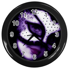 PURPLE M Wall Clock (Black)