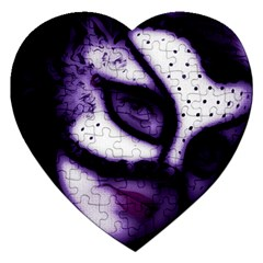 PURPLE M Jigsaw Puzzle (Heart)