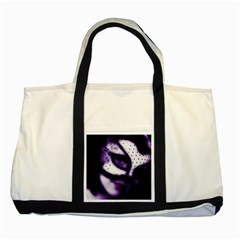 PURPLE M Two Toned Tote Bag
