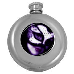 PURPLE M Hip Flask (Round)