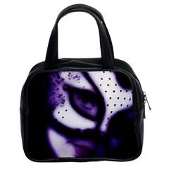 Purple M Classic Handbag (two Sides)