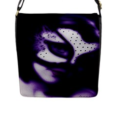 PURPLE M Flap Closure Messenger Bag (Large)