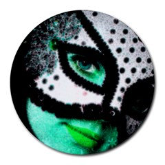 Masked 8  Mouse Pad (round)